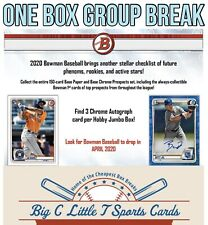 BOX BREAK- 2020 Bowman Baseball HTA Jumbo Hobby Group Break- Random Teams (auto)