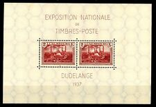 Luxembourg 1937 National Stamp Exposition Souvenir Sheet MNH Scott's B85 CRISP