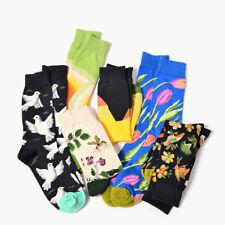 Mens Unisex Cotton Cartoon Plant Novelty Funny Pattern Socks Colorful Hosiery