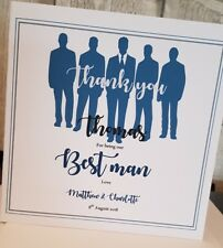 Thank You for being my Best Man, Usher, Groomsman card.