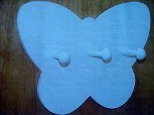 4 Wall Mounted Coat Racks 3 Pegs Coat Rack Lot White Butterfly Butterflies