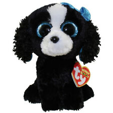 "TY Beanie Boos 6"" TRACEY the Black & White Dog Animal Plush w/ MWMT's Heart Tags"
