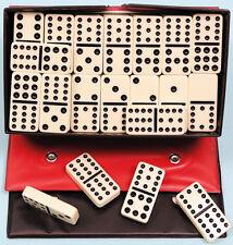 Plastic Double Twelve Dominoes - Black Spots - Ref: 00123