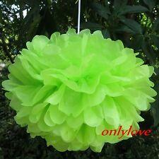 "10pcs Tissue Paper Pom Poms Flower Ball Wedding Party Birthday Decor 6""/8""/10"""