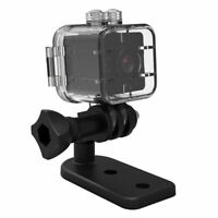 1X(SQ12 Mini camara resistente al agua HD 1080P DVR Lente Camaras de video  W9D4
