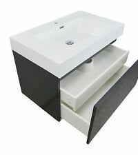 altone Waschtisch mit Waschbecken Unterschrank 100cm grau hochglanz