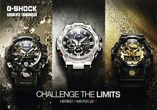 G-Shock Uhrenkatalog Herbst Winter 2017 D Prospekt Uhren catalog watches orologi