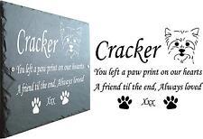 Yorkie pet Memorial Ardoise plaque, personnalisé pour vous.. Yorkshire Terrier