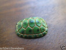 Vintage LOT OF 6 JAPANESE ART DECO CARVED JADE TURTLE TORTOISE cab findings