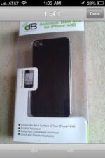 Aluminum Back Skin for iPhone 4/4S Black