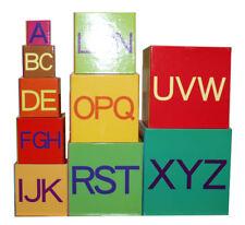 NEW #2 Alphabet Nesting Baby Stacking Building Blocks