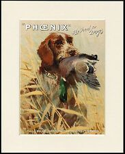 GERMAN WIREHAIRED POINTER GREAT DOG FOOD ADVERT PRINT MOUNTED READY TO FRAME