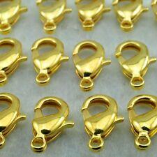 Lot 1-5-10 pcs Fermoir Mousquetons Doré en Metal 12x6mm Pour creation bijoux