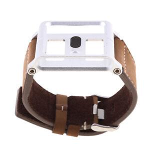 Matte Brown Leather for iPod Nano 6th Gen Wrist Strap Watch Band Case .