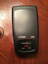 Whistler 1250 Laser Radar Detector with carry case