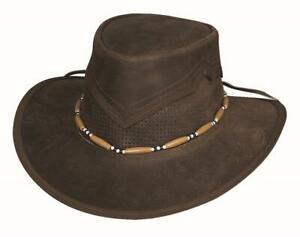 KANOSH Dark Brown Leather QUALITY Western Rodeo Cowboy Hat Bullhide MonteCarlo