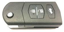 Replacement 3 button flip key case for Mazda 2 3 6 MX5 RX8 remote fob Visteon