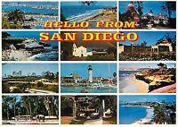 Hello from San Diego California Postcard