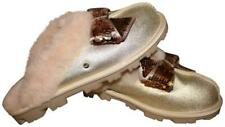 NEW UGG UGGS COQUETTE Pink Sequins Bow Slippers Metallic Gold Shoes 8 9 39 40
