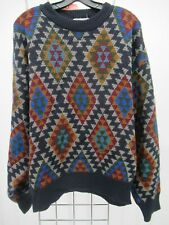 H3605 ALAN MICHAELS Men's Aztec Multi Color Pull Over Sweater Size M