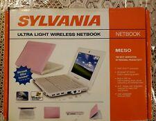 SYLVANIA MESO ULTRA LIGHT WIRELESS NETBOOK SYNET581P PINK - NEW IN BOX - READ