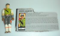 1986 GI Joe Cross Country HAVOC Driver v1 Action Figure w/ File Card *Complete