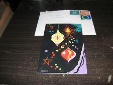 Hand Painted Christmas Card Ronald Fryling Esveha Lot #200