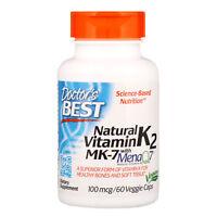 Doctor s Best  Natural Vitamin K2 MK-7 with MenaQ7  100 mcg  60 Veggie Caps