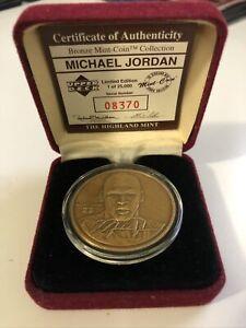 Michael Jordan Bulls Upper Deck The Highland Min Solid Bronze Medallion Coin