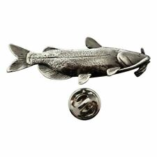 Channel Catfish Pin ~ Antiqued Pewter ~ Lapel Pin