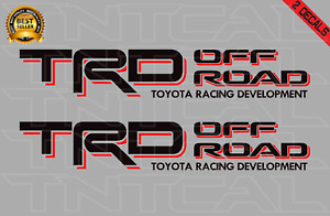 Toyota TRD OFFROAD Decal Set Tacoma Tundra Truck Bedside Vinyl Sticker black/red