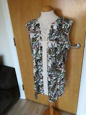 Ladies NEXT Dress Size 14 Parrot Print Mini Smart Casual Holiday