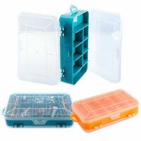 13 Grids Plastic Tool Storage Case Spanner Screw Parts Hardware Organizer Box