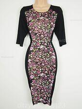 BNWT Club L Optical Illusion Bodycon Dress Size 14 Stretch