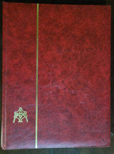 Stamp Album Belga-24/48 48 Black Pages Lightly Used Cover is Worn in Spots