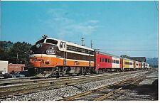 PATrain TRAIN F7's Rebuilt GE B&O Ex C&O Car Pittsburgh Pennsylvania Postcard PA