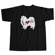 I Love Japanese Spitz German Keeshon Dog Pet Lover Puppy Unisex Tee T-Shirt