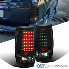 For Chevy 07-14 Tahoe Suburban LED Black Rear Tail Lights Brake Lamps Left+Right