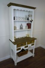 Handmade Farmhouse Kitchen Dresser In Vintage White