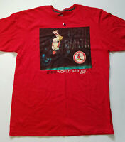 St Louis Cardinals Ozzie Smith 1985 World Series t-shirt red size XL *small hole