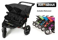 Out n About Double Nipper 360 V4/Basket/Raincover- Raven Black