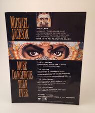 RARE 1991 Michael Jackson DANGEROUS Album Promotional Counter Card - Epic