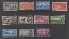 Newfoundland. 1937. SG257-267. Very fine and fresh unmounted mint set x 11.