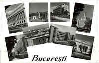 Rumänien Romina Postkarte Postcard Bukarest Bucaresti s/w Mehrbild-AK ungelaufen