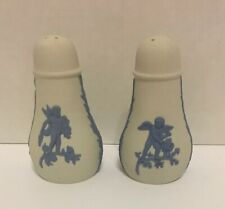 50% Off! Wedgwood Reverse Blue White, Salt & Pepper Exc 4 Seasons Cherubs