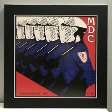 Mdc Millions of Dead Cops Pro Matted Album Art,Thrash, Punk Rock 12�x12� Banned