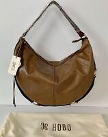 NWT Hobo International Rogue Leather Shoulder Bag RP $288 Mink