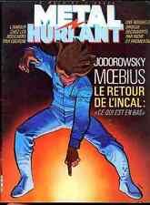 METAL HURLANT 86 MOEBIUS INCAL NOIR MARC SINGER pastiche TINTIN french Book