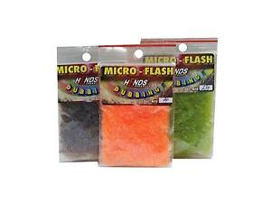 Hends Micro Flash Dubbing   25 Colours   Synthetic Dubbing   Grayling, Trout etc