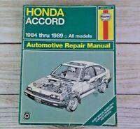Haynes Automotive Repair Manual Honda Accord (1984-1989) (42011) #1221 Shop Book